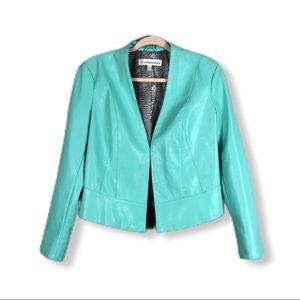 Mint Green Moto Faux Leather Jacket
